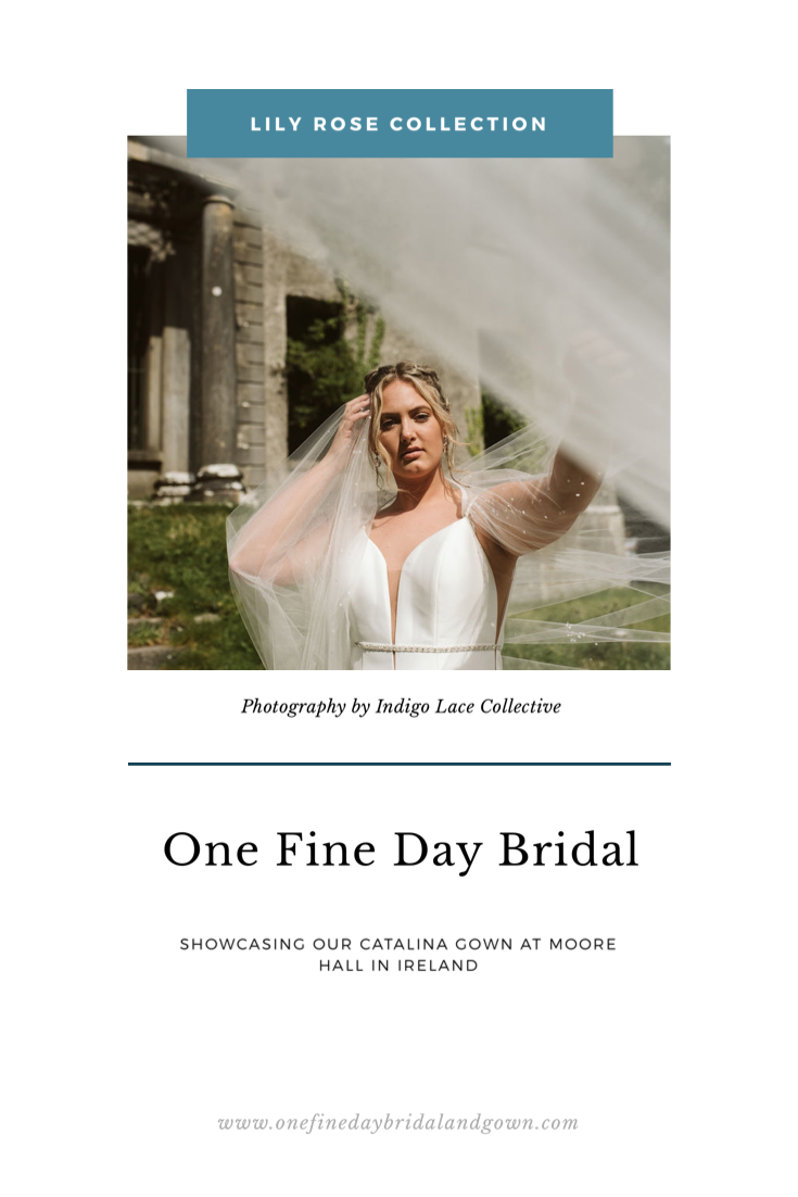 Blog cover for Catalina gown at Moore Hall in Ireland