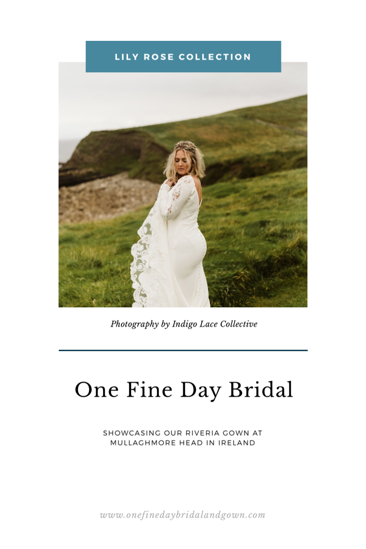 Blog cover post for Rivieria gown at Mullaghmore Head