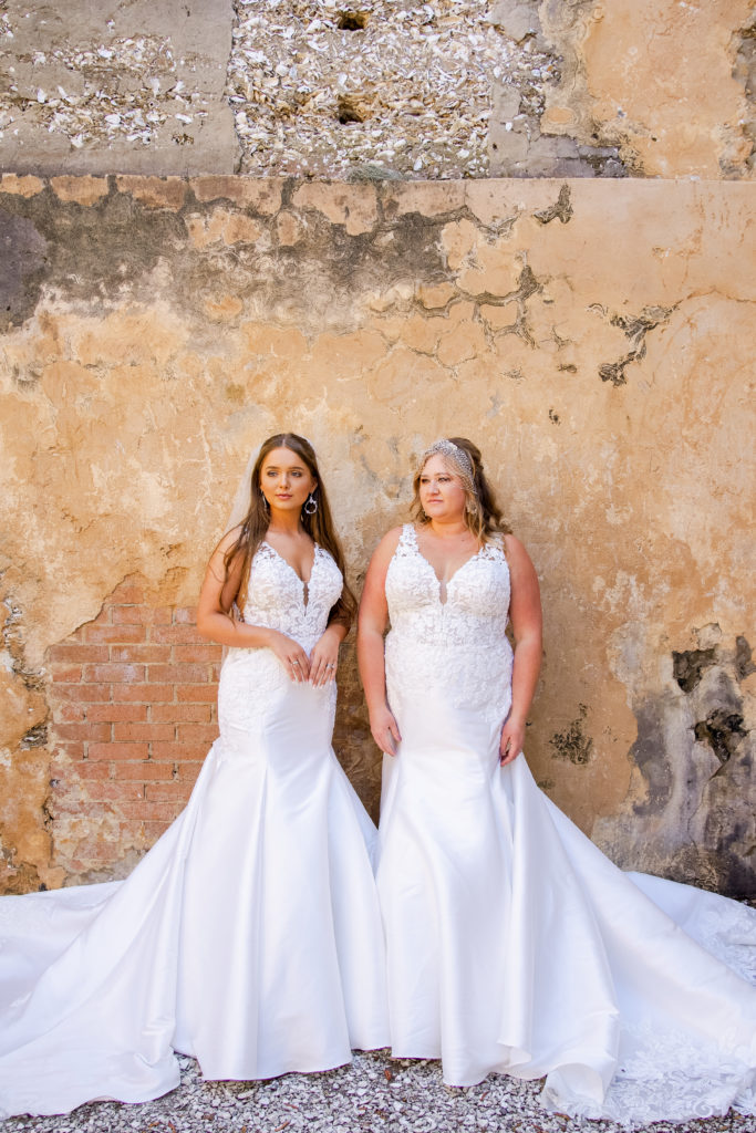 classic mermaid wedding dress in ivory